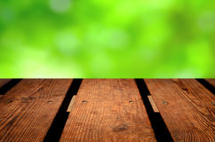 Empty wooden table Royalty Free Stock Images