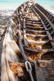 Empty wooden thailand boat Royalty Free Stock Image