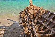 Empty wooden thailand boat Royalty Free Stock Photos