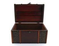Empty wooden treasure chest Royalty Free Stock Images