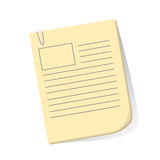 Empty Work Papers Royalty Free Stock Photography