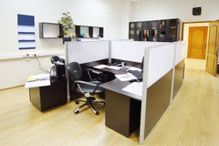 Empty working area with armchair and table Royalty Free Stock Photography