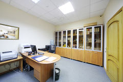 Empty working area in modern office. Stock Image