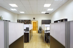 Empty working areas with desktops and documents Royalty Free Stock Photos