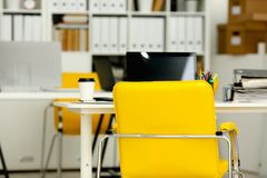 Empty workplace in office closeup Royalty Free Stock Image