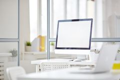 Empty workplace Royalty Free Stock Photo