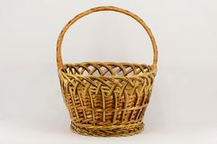 Empty woven basket Stock Photo