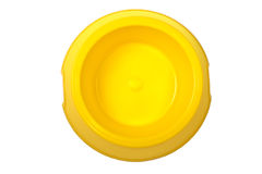Empty yellow bowl Royalty Free Stock Images