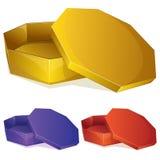Empty yellow box Royalty Free Stock Photo