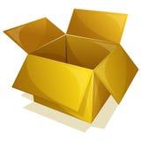 Empty yellow box Stock Photos