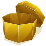 Empty yellow box Stock Photography