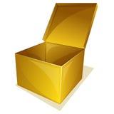 Empty yellow box Stock Photo