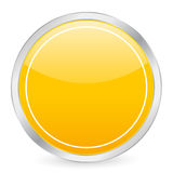 Empty yellow circle icon Stock Image