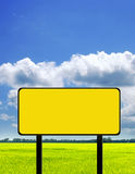 Empty yellow frame Royalty Free Stock Photography