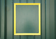 Empty yellow frame background Royalty Free Stock Photos