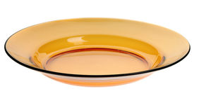 Empty yellow plate Stock Image