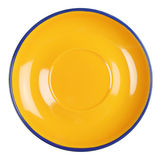 Empty yellow plate Royalty Free Stock Images