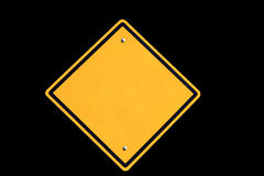 Empty yellow road sign Royalty Free Stock Images