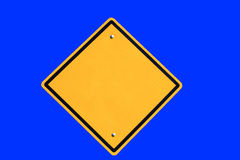 Empty yellow road sign Stock Photography