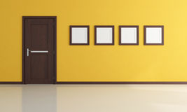 Empty yellow room Stock Photography