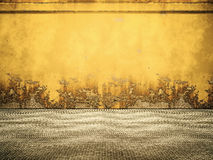Empty Yellow Rusty Steel Room Royalty Free Stock Photo