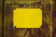 Empty yellow sign Stock Image