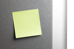 Empty yellow sticker on fridge Royalty Free Stock Photo