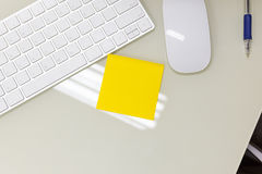 A Empty yellow sticky note. Stock Images