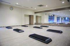 Empty yoga classroom Stock Images