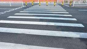 Empty zebra crossing Royalty Free Stock Photos