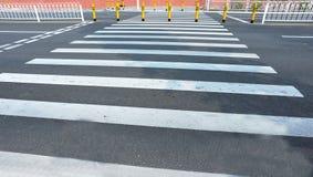 Empty zebra crossing Royalty Free Stock Photos