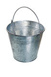 The empty zinced bucket Royalty Free Stock Image