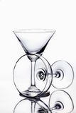 Emptyglass. Alcohol background bar beaker beverage blank clean clear concept crystal Royalty Free Stock Photography