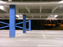 Emptyness. Empty parking building at night in Tartu, Estonia Royalty Free Stock Photo