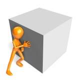 Empujar el bloque Foto de archivo libre de regalías
