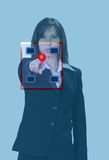 Empujar el botón rojo foto de archivo libre de regalías