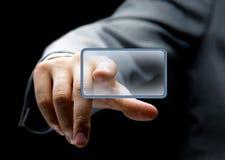 Empujar el botón manualmente Fotografía de archivo libre de regalías