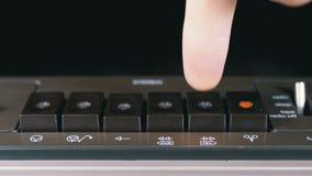 Empujar el juego, parada, rec, FF, botones del rew en una grabadora metrajes