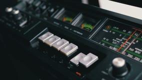 Empujar el juego, parada, rec, FF, botones del rew en una grabadora almacen de video