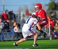 Empuje del lacrosse Fotografía de archivo