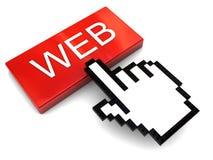 Empuje el botón del Web Fotografía de archivo libre de regalías