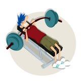 Empuje el límite en el gimnasio Foto de archivo libre de regalías
