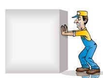 Empuje el rectángulo en blanco stock de ilustración