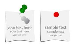 Empuje los contactos con las notas Imagenes de archivo