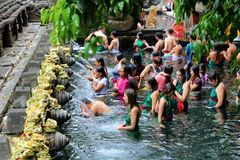 Empul di Tirta in Bali fotografia stock