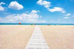 Empuriabrava beach, Costa Brava, Spain. View of Empuriabrava beach, Costa Brava, Spain Stock Image