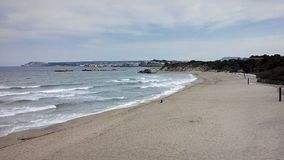 Empuries strand Arkivbilder