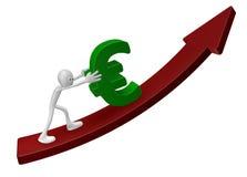 Empurrando o euro Imagem de Stock Royalty Free