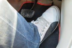 Empurre o pedal de acelerador do carro Imagem de Stock Royalty Free