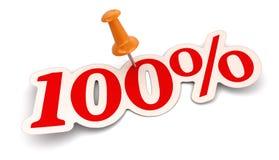 Empurre o Pin e o 100% (o trajeto de grampeamento incluído) Fotos de Stock Royalty Free